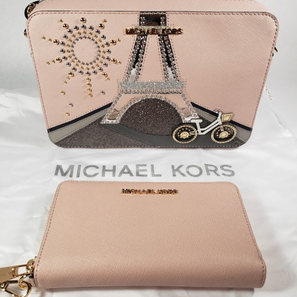 7630196900f4 Michael Kors Bags | Nwt Mk Noveau Eiffel Tower Bag Wristlet Set ...
